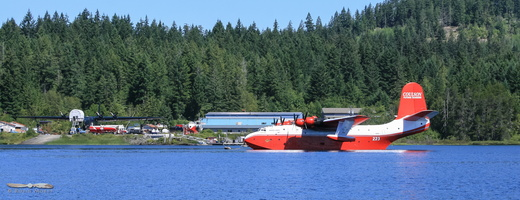 Coulson Flying Tanker base at Lake Sproate, BC