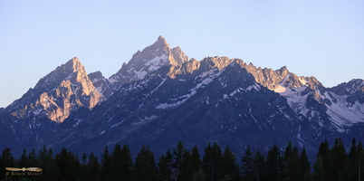 Tetons from Colter Bay - Click to zoom !