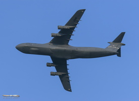 C-5 Galaxy flying by prior to landing