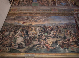 Giulio Romano - The Battle of the Milvian Bridge