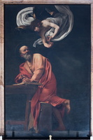 Caravaggio  - The Inspiration of St. Matthew