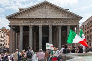 Entrance of the Pantheon