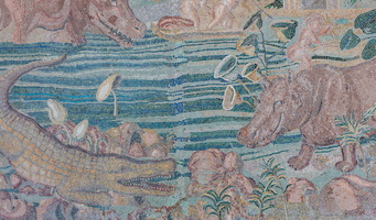 Mosaic scene depicting flooding of Nile River (2nd BC)