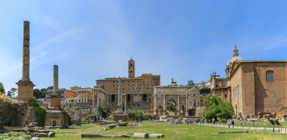 Western end of the roman forum