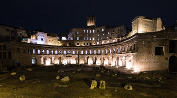 Trajan market by night