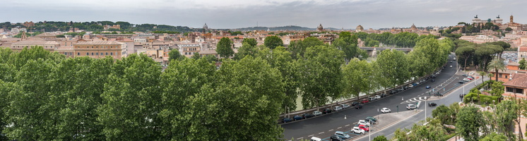 Panorama of Trastevere from Orange Garden