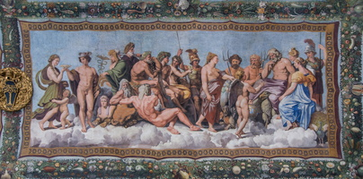 Council of the Gods (Raphael, 16th AD) deciding on whether Psyche can marry Cupid
