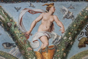 Venus going to Jupiter on her dove-driven chariot
