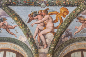 Jealous Venus designating Psyche to her son Cupid so that he makes her fall in love to an hidious man