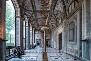 Loggia of Cupid and Psyche was originally the entrance of villa Farnesina