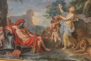 The Nile and his sons, the floods and goddess Cybele (Conca, 18th AD)