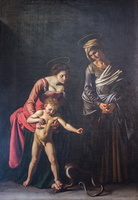 Madonna and Child with St. Anne (Caravaggio, 17th AD)
